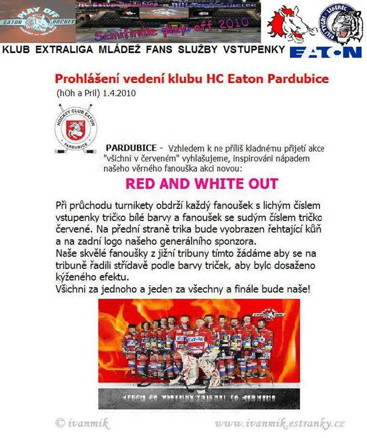 RED AND WHITE OUT